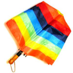 Auto Open Rainbow Umbrella