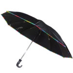 Black Umbrella with WaterLok Mechanism (Multicolor Piping)