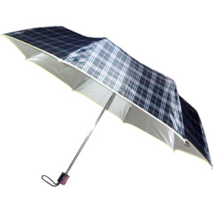 Check Print Umbrella with Piping