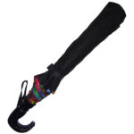 Black Umbrella with multicolor Piping