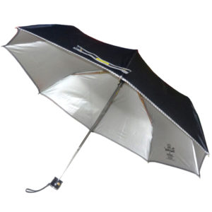 Black Folding Umbrella with Piping