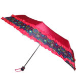 Mono Color Umbrella with Border and Dual Frill
