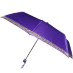 Mono Color Umbrella with Printed Border