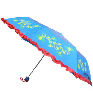 Hand Printed Umbrella with Frill