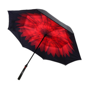 Reversible Car Umbrella with Torch Handle